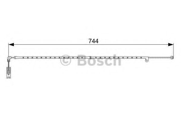 Датчик износа тормозных колодок BOSCH 1987473021