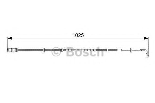 Датчик износа тормозных колодок BOSCH 1987473026