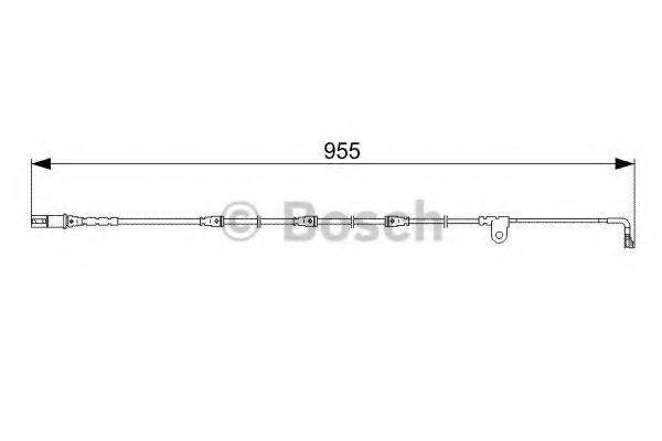 Датчик износа тормозных колодок BOSCH 1987473028