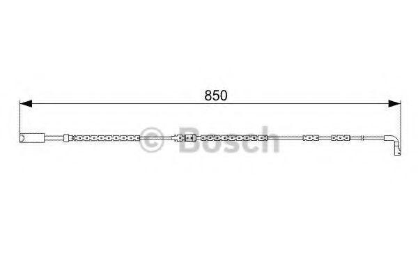Датчик износа тормозных колодок BOSCH 1987473030