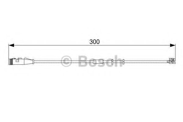 Датчик износа тормозных колодок BOSCH 1987473033