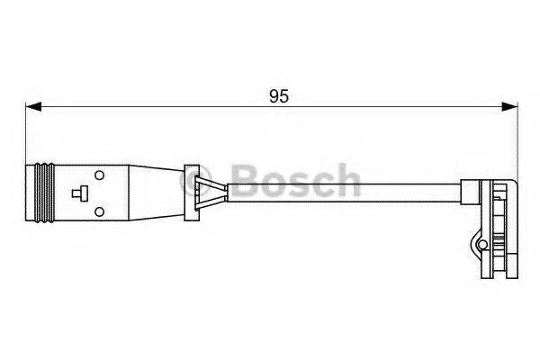 Датчик износа тормозных колодок BOSCH 1987473036