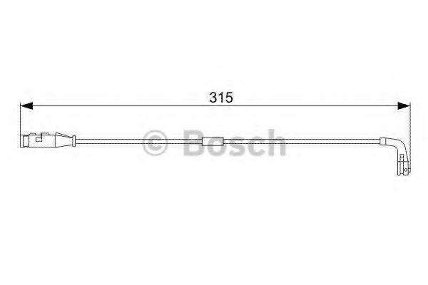 Датчик износа тормозных колодок BOSCH 1987473039