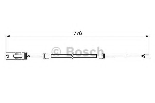 Датчик износа тормозных колодок BOSCH 1987474925