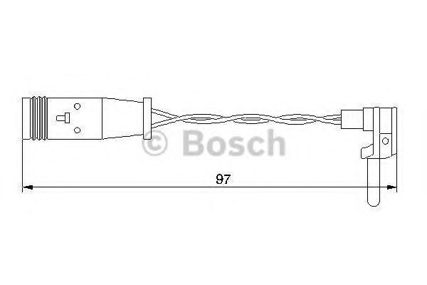 Датчик износа тормозных колодок BOSCH 1987474966