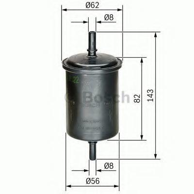 Фильтр топливный BOSCH 0450902161
