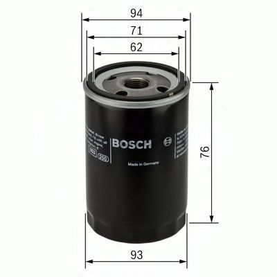 Фильтр масляный BOSCH 0451103341