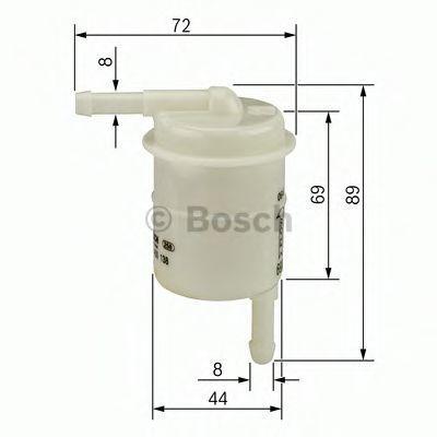 Топливный фильтр BOSCH 0986450016