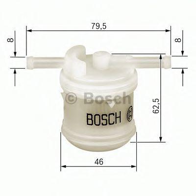 Фильтр топливный BOSCH 0986450117