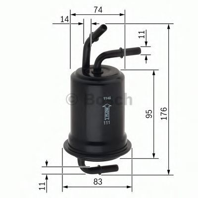 Фильтр топливный BOSCH F 026 403 012
