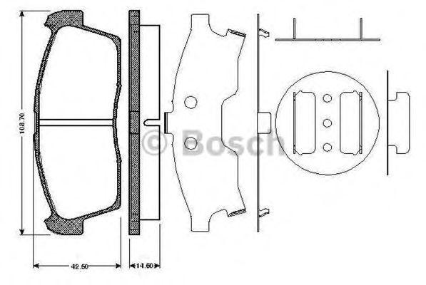 Комплект тормозных колодок, дисковый тормоз BOSCH 0986TB2930
