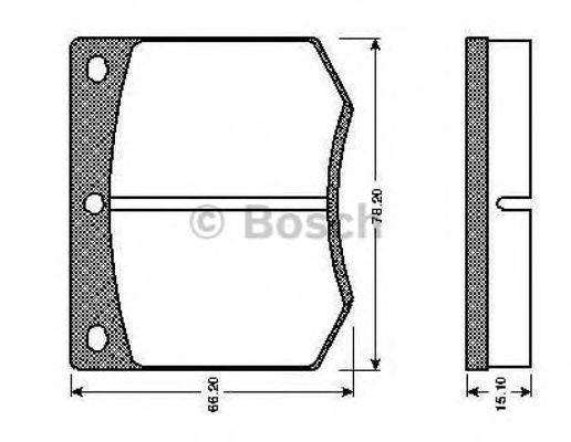 Комплект тормозных колодок, дисковый тормоз BOSCH 0986TB2062