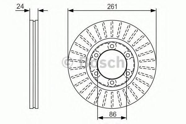 Тормозной диск BOSCH 0986479053