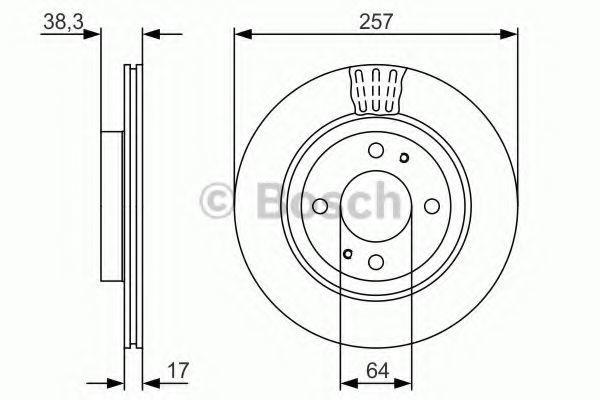 Тормозной диск BOSCH 0986479134
