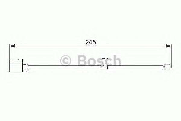 Датчик износа тормозных колодок BOSCH 1987474563