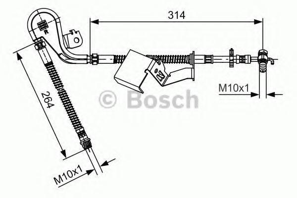 Трос стояночного тормоза BOSCH 1987481471