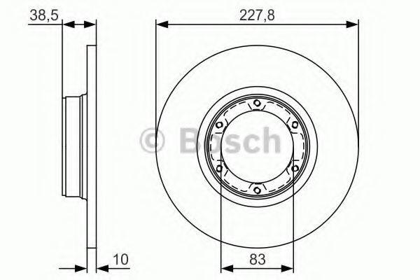 Тормозной диск BOSCH 0986479R65