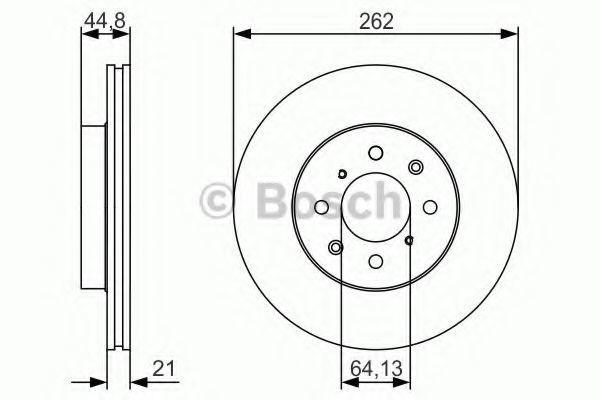 Тормозной диск BOSCH 0986479R80