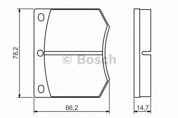 Комплект тормозных колодок, дисковый тормоз BOSCH 0986495079