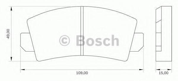 Комплект тормозных колодок, дисковый тормоз BOSCH 0986BB0000