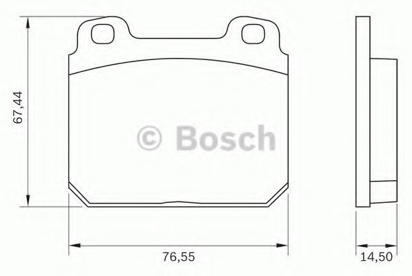 Комплект тормозных колодок, дисковый тормоз BOSCH 0986BB0009
