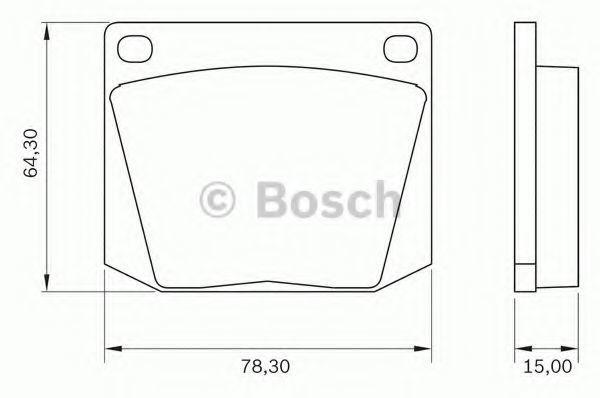 Комплект тормозных колодок, дисковый тормоз BOSCH 0986BB0010