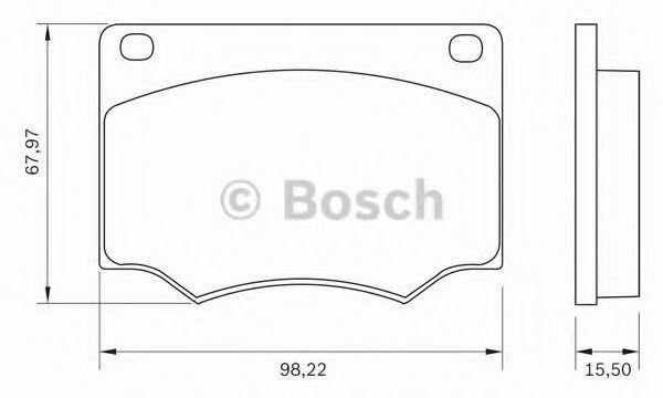 Комплект тормозных колодок, дисковый тормоз BOSCH 0986BB0011