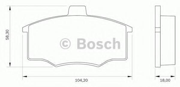 Комплект тормозных колодок, дисковый тормоз BOSCH 0986BB0013