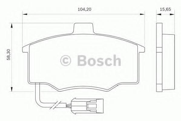 Комплект тормозных колодок, дисковый тормоз BOSCH 0986BB0018