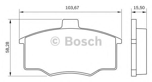 Комплект тормозных колодок, дисковый тормоз BOSCH 0986BB0019