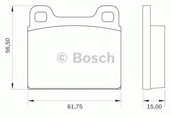 Комплект тормозных колодок, дисковый тормоз BOSCH 0986BB0020