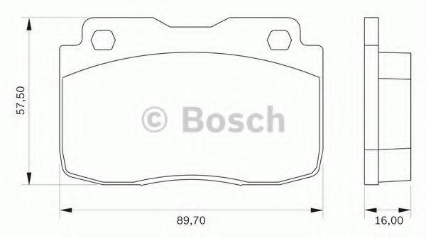 Комплект тормозных колодок, дисковый тормоз BOSCH 0986BB0021