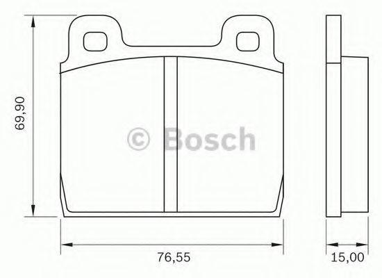 Комплект тормозных колодок, дисковый тормоз BOSCH 0986BB0022