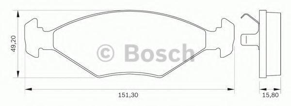 Комплект тормозных колодок, дисковый тормоз BOSCH 0986BB0025