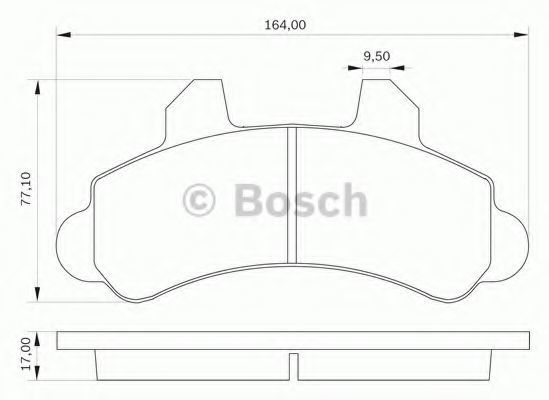 Комплект тормозных колодок, дисковый тормоз BOSCH 0986BB0029