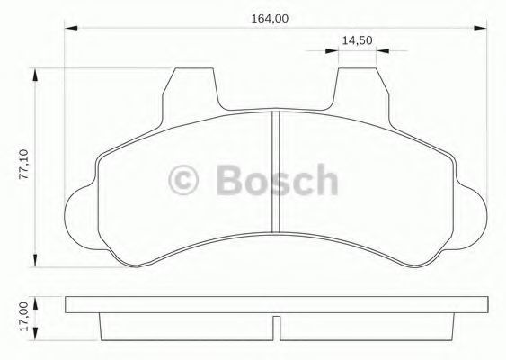 Комплект тормозных колодок, дисковый тормоз BOSCH 0986BB0030
