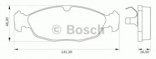 Комплект тормозных колодок, дисковый тормоз BOSCH 0986BB0032