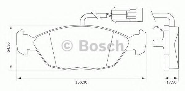 Комплект тормозных колодок, дисковый тормоз BOSCH 0986BB0036