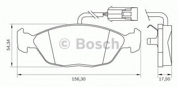 Комплект тормозных колодок, дисковый тормоз BOSCH 0986BB0037