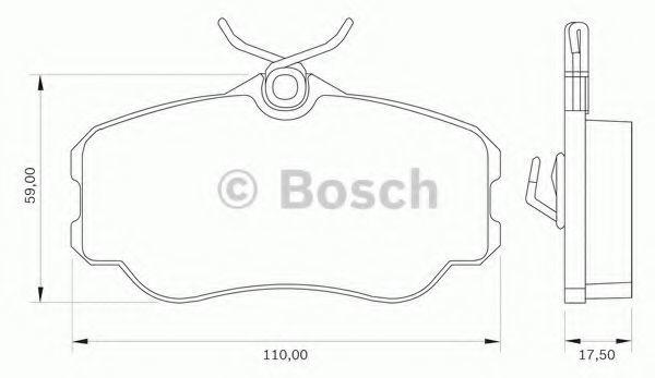 Комплект тормозных колодок, дисковый тормоз BOSCH 0986BB0039