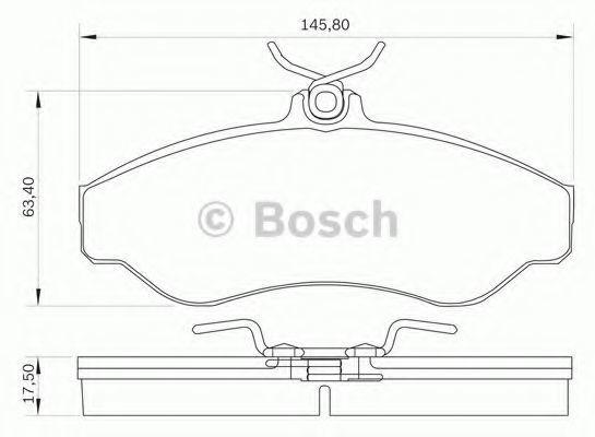 Комплект тормозных колодок, дисковый тормоз BOSCH 0986BB0041