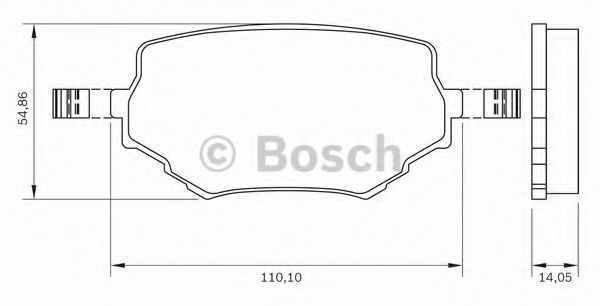 Комплект тормозных колодок, дисковый тормоз BOSCH 0986BB0160