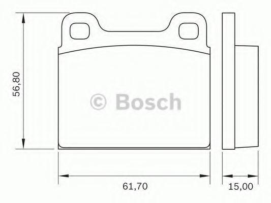 Комплект тормозных колодок, дисковый тормоз BOSCH 0986BB0252