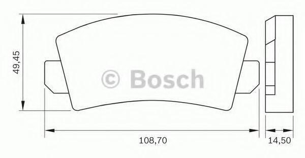Комплект тормозных колодок, дисковый тормоз BOSCH 0986BB0253