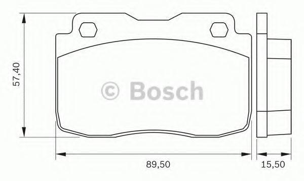 Комплект тормозных колодок, дисковый тормоз BOSCH 0986BB0256