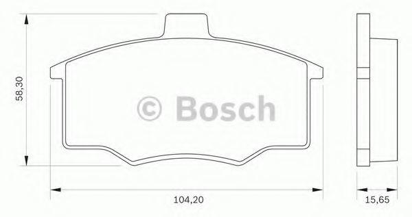 Комплект тормозных колодок, дисковый тормоз BOSCH 0986BB0258