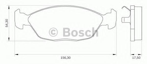 Комплект тормозных колодок, дисковый тормоз BOSCH 0986BB0268