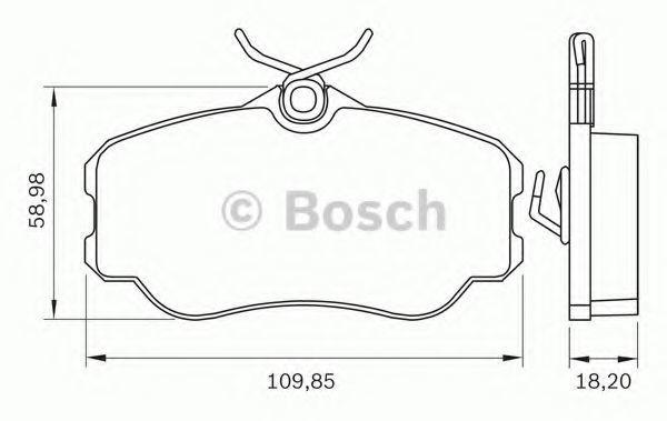 Комплект тормозных колодок, дисковый тормоз BOSCH 0986BB0269