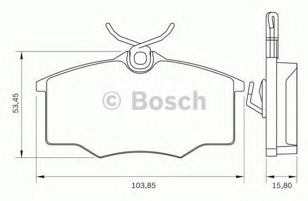 Комплект тормозных колодок, дисковый тормоз BOSCH 0986BB0275