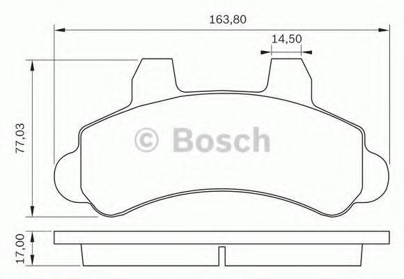 Комплект тормозных колодок, дисковый тормоз BOSCH 0986BB0284